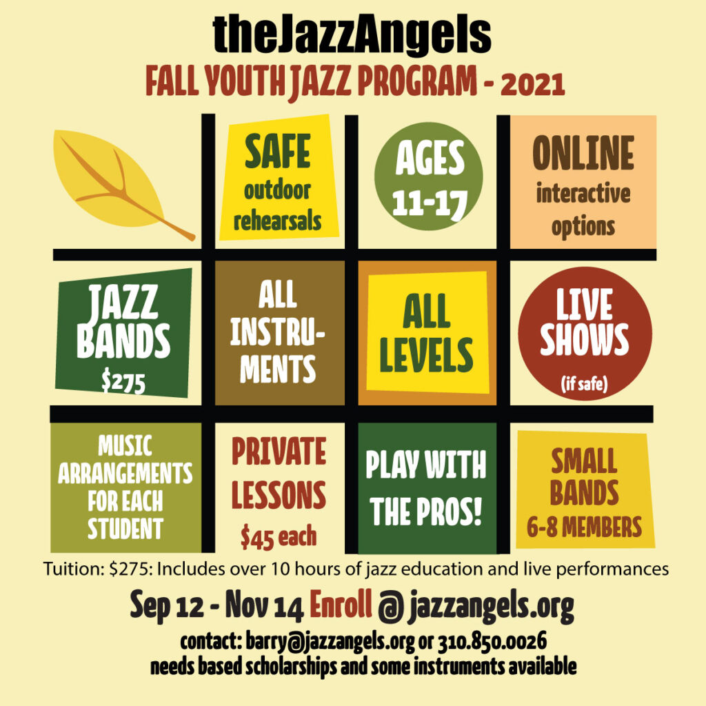 Fall Youth Jazz Program 2021, click to learn more